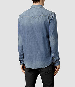 Men's Thirst Denim Shirt (Indigo Blue) - product_image_alt_text_3