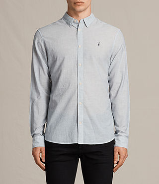 Herren Senate Stripe Shirt (Grey/White) - Image 1