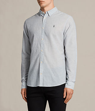 Mens Senate Stripe Shirt (Grey/White) - Image 3
