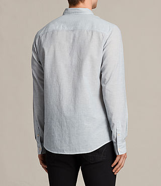 Mens Senate Stripe Shirt (Grey/White) - product_image_alt_text_4