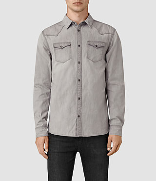 Mens Pirnmill Denim Shirt (Grey) - product_image_alt_text_1