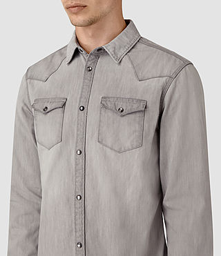 Mens Pirnmill Denim Shirt (Grey) - product_image_alt_text_2