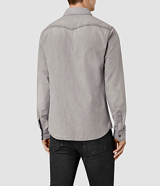 Men's Pirnmill Denim Shirt (Grey) - product_image_alt_text_5