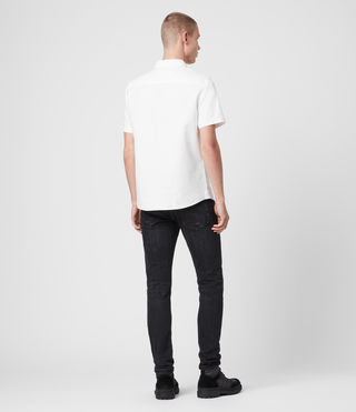 Men's Hungtingdon Short Sleeve Shirt (White) - product_image_alt_text_4