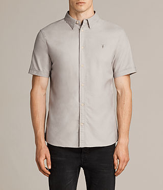Hommes Hungtingdon Short Sleeve Shirt (Pebble Grey) -