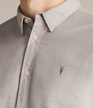 Hommes Hungtingdon Short Sleeve Shirt (Pebble Grey) - product_image_alt_text_2