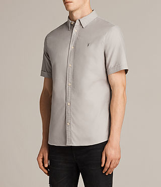 Hommes Hungtingdon Short Sleeve Shirt (Pebble Grey) - product_image_alt_text_3