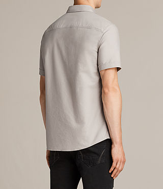 Hommes Hungtingdon Short Sleeve Shirt (Pebble Grey) - product_image_alt_text_4