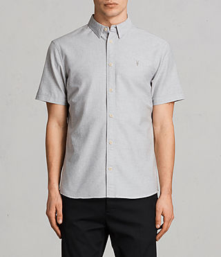 Mens Hungtingdon Short Sleeve Shirt (DARK GULL GREY) - product_image_alt_text_1