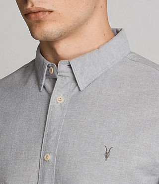 Hommes Hungtingdon Short Sleeve Shirt (DARK GULL GREY) - product_image_alt_text_2