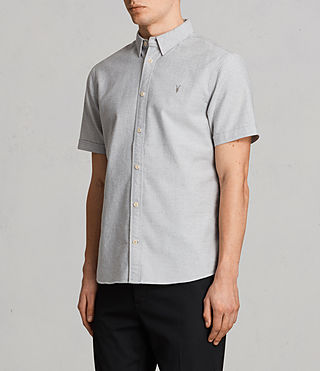 Hommes Hungtingdon Short Sleeve Shirt (DARK GULL GREY) - product_image_alt_text_3