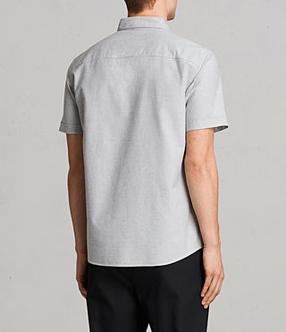 Mens Hungtingdon Short Sleeve Shirt (DARK GULL GREY) - Image 5