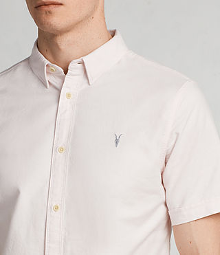 Mens Hungtingdon Short Sleeve Shirt (MALO PINK) - Image 2
