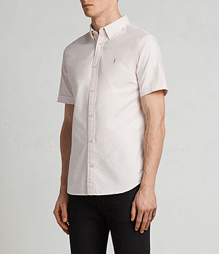 Mens Hungtingdon Short Sleeve Shirt (MALO PINK) - Image 3