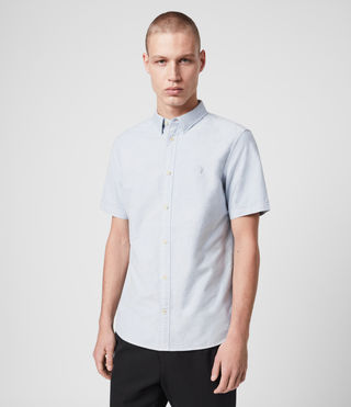 Mens Hungtingdon Short Sleeve Shirt (Light Blue) - Image 1