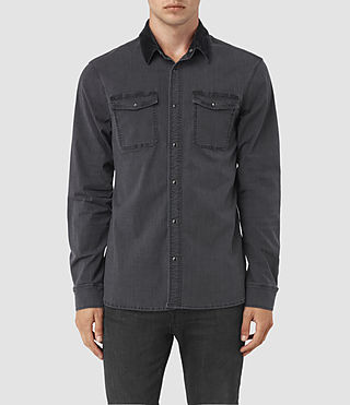 Herren Dyce Denim Shirt (Graphite/Grey)