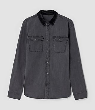 Men's Dyce Denim Shirt (Graphite/Grey) - product_image_alt_text_2