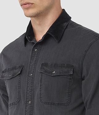 Uomo Dyce Denim Shirt (Graphite/Grey) - product_image_alt_text_3