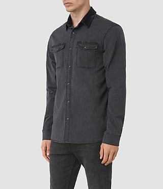 Mens Dyce Denim Shirt (GRAPHITE GREY) - product_image_alt_text_2