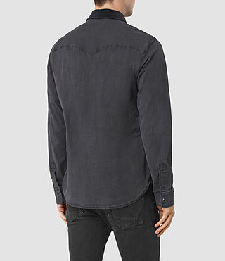 Mens Dyce Denim Shirt (GRAPHITE GREY) - product_image_alt_text_3