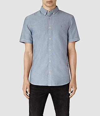 Mens Cabrillo Short Sleeve Shirt (MID INDIGO BLUE)