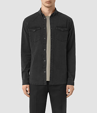 Herren Corran Denim Shirt (Black)