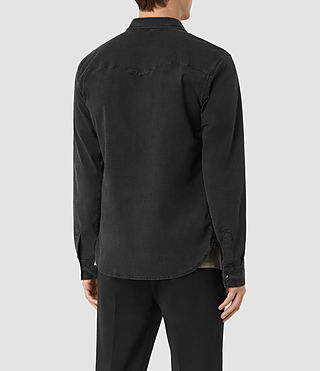 Mens Corran Shirt (Black) - product_image_alt_text_3