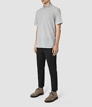 Uomo Morro Half Sleeve Shirt (Black) - product_image_alt_text_2