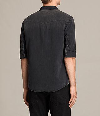 Uomo Marilla Half Sleeve Denim Shirt (Black) - product_image_alt_text_3