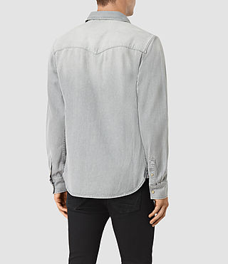 Mens Ardno Denim Shirt (Grey) - product_image_alt_text_3