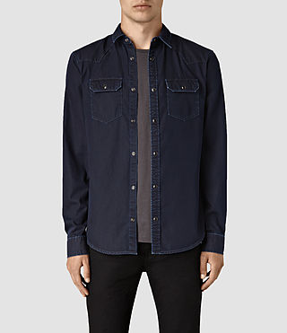Hommes Airlie Denim Shirt (DARK INDIGO BLUE)