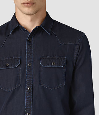 Herren Airlie Denim Shirt (DARK INDIGO BLUE) - product_image_alt_text_2