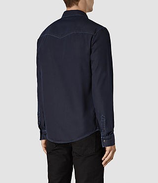 Uomo Airlie Ls Shirt (DARK INDIGO BLUE) - product_image_alt_text_4