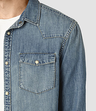 Mens Laggan Denim Shirt (Indigo Blue) - product_image_alt_text_2