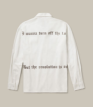 Mens Revolution Shirt (Vintage White) - product_image_alt_text_1