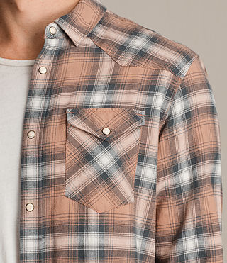 Hombres Camisa de manga larga Wyoming (CLAY RED) - product_image_alt_text_2