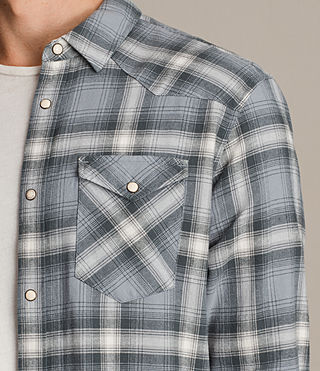 Uomo Camicia Wyoming maniche lunghe (SHADOW BLUE) - product_image_alt_text_2