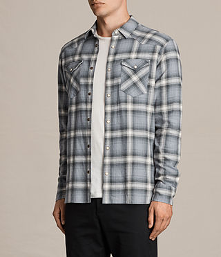Hombres Camisa de manga larga Wyoming (SHADOW BLUE) - Image 3