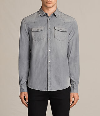 Mens Roxon Shirt (Light Grey) - product_image_alt_text_1