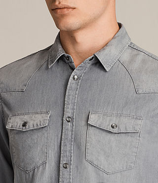 Mens Roxon Shirt (Light Grey) - product_image_alt_text_2
