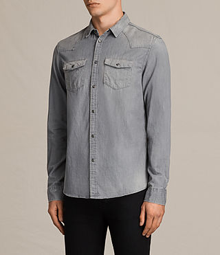 Mens Roxon Shirt (Light Grey) - product_image_alt_text_3