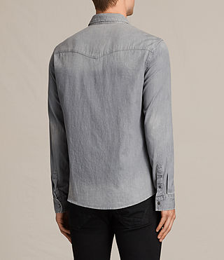 Mens Roxon Shirt (Light Grey) - product_image_alt_text_4