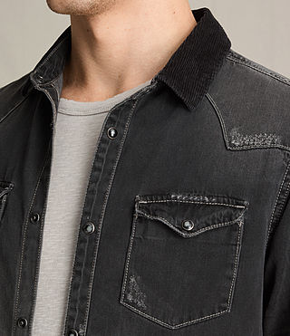 Hommes Gaths Denim Shirt (Black) - product_image_alt_text_2
