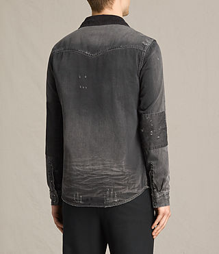 Hommes Gaths Denim Shirt (Black) - product_image_alt_text_4