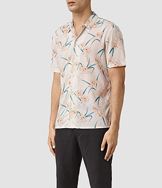 Hombre Aaru Short Sleeve Shirt (ECRU WHITE) - product_image_alt_text_3