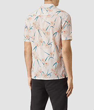 Uomo Aaru Short Sleeve Shirt (ECRU WHITE) - product_image_alt_text_4