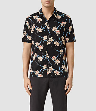Mens Aaru Short Sleeve Shirt (Black)