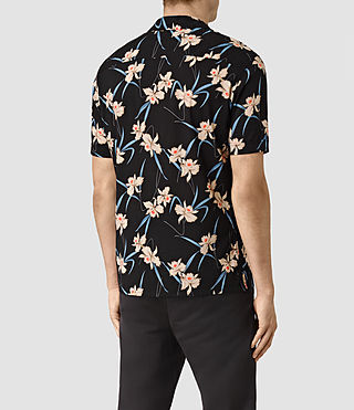 Mens Aaru Short Sleeve Shirt (Black) - product_image_alt_text_4