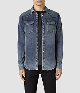 Hommes Lex Denim Shirt (Indigo Blue)