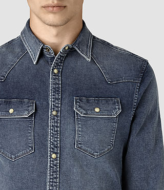 Hommes Lex Denim Shirt (Indigo Blue) - product_image_alt_text_2
